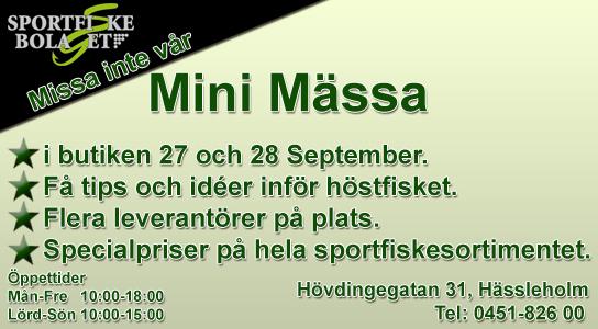 Mini Mässa 27 och 28 Septmember 2018